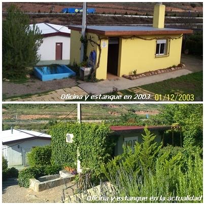 Oficina y estanque de Peludos Residencia Canina y Felina