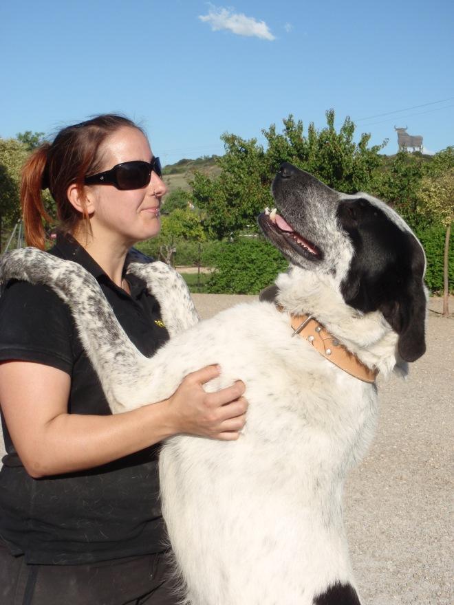 Perro abrazando en Peludos Residencia Felina y Canina